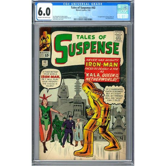 Tales of Suspense #43 CGC 6.0 (C-OW) *2055255002*