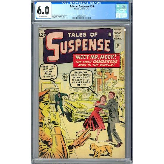 Tales of Suspense #36 CGC 6.0 (OW) *2055255004*