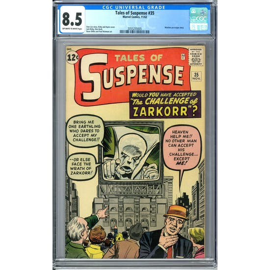 Tales of Suspense #35 CGC 8.5 (OW-W) *2055255005*