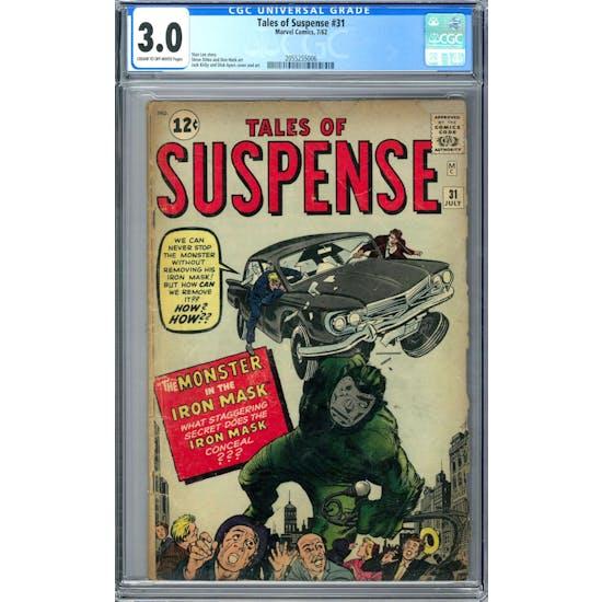 Tales of Suspense #31 CGC 3.0 (C-OW) *2055255006*