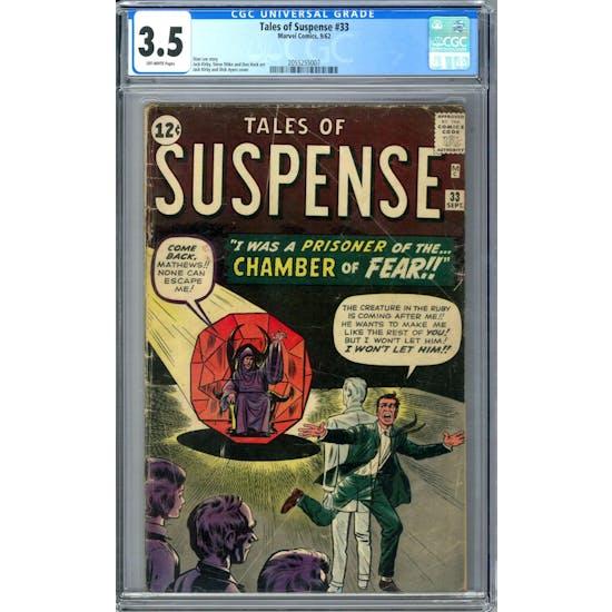 Tales of Suspense #33 CGC 3.5 (OW) *2055255007*