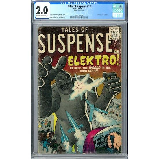 Tales of Suspense #13 CGC 2.0 (OW-W) *2055255009*