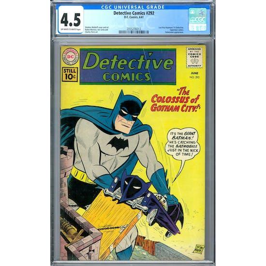 Detective Comics #292 CGC 4.5 (OW-W) *2055256013*