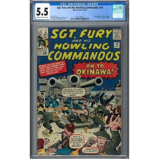 Sgt. Fury and His Howling Commandos #10 CGC 5.5 (C-OW) *2055256014*