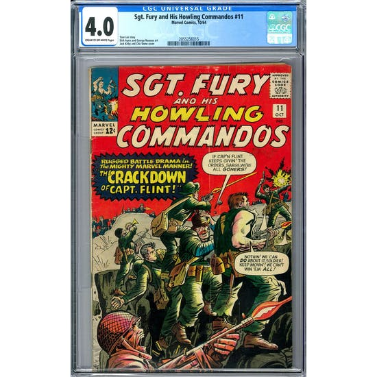 Sgt. Fury and His Howling Commandos #11 CGC 4.0 (C-OW) *2055256015*