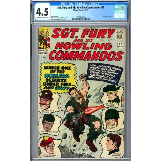 Sgt. Fury and His Howling Commandos #12 CGC 4.5 (OW-W) *2055256016*