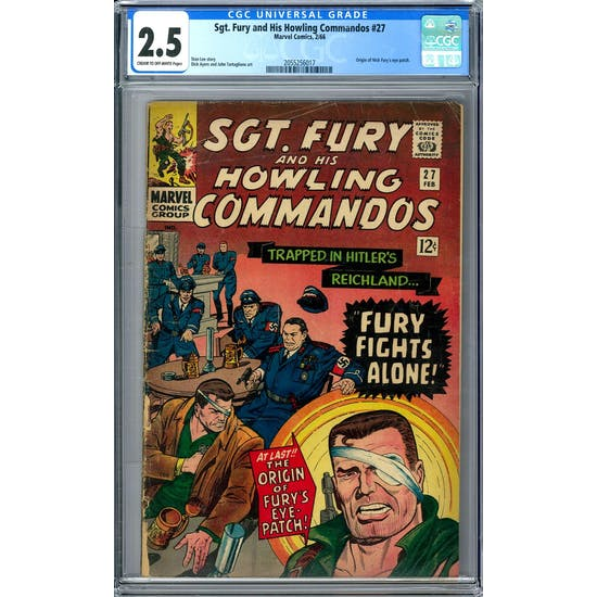 Sgt. Fury and His Howling Commandos #27 CGC 2.5 (C-OW) *2055256017*