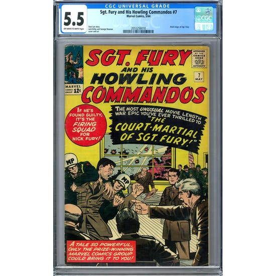 Sgt. Fury and His Howling Commandos #7 CGC 5.5 (OW-W) *2055256018*