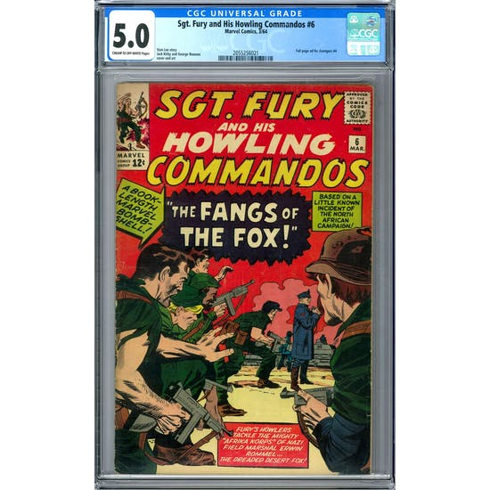 Sgt. Fury and His Howling Commandos #6 CGC 5.0 (C-OW) *2055256021*