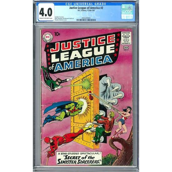 Justice League of America #2 CGC 4.0 (C-OW) *2055305001*