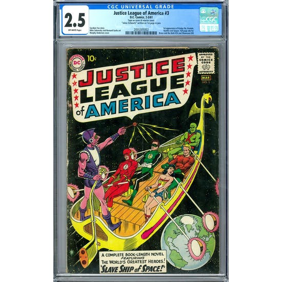 Justice League of America #3 CGC 2.5 (OW) *2055305002*