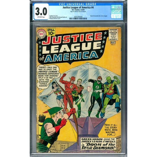 Justice League of America #4 CGC 3.0 (OW) *2055305004*