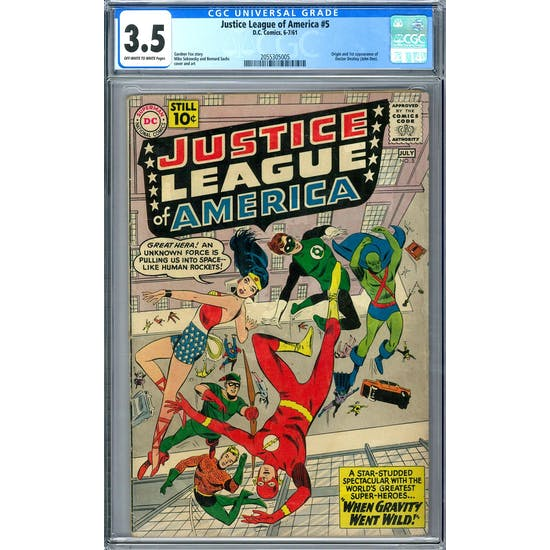 Justice League of America #5 CGC 3.5 (OW-W) *2055305005*