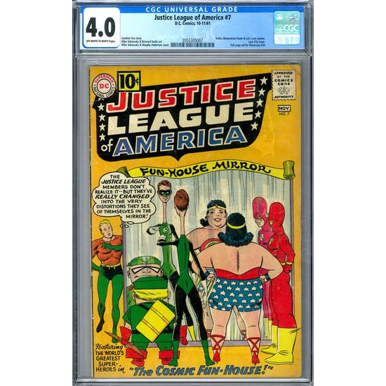 Justice League of America #7 CGC 4.0 (OW-W) *2055305007*