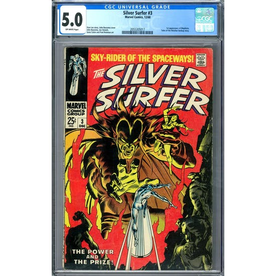 Silver Surfer #3 CGC 5.0 (OW) *2055305017*