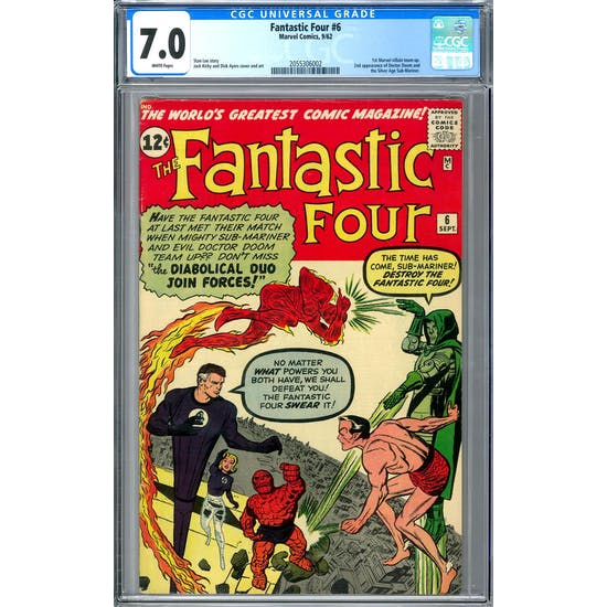 Fantastic Four #6 CGC 7.0 (W) *2055306002*