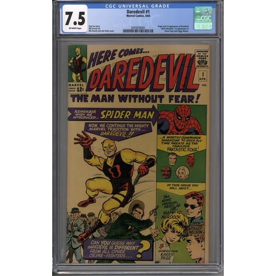Daredevil #1 CGC 7.5 (OW) *2059350001*