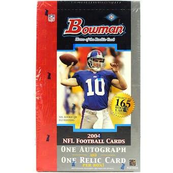 2004 Bowman Football Hobby Box