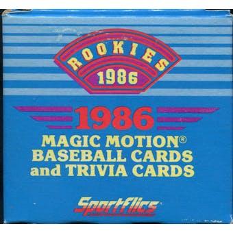 1986 Sportflics Rookies Baseball Factory Set