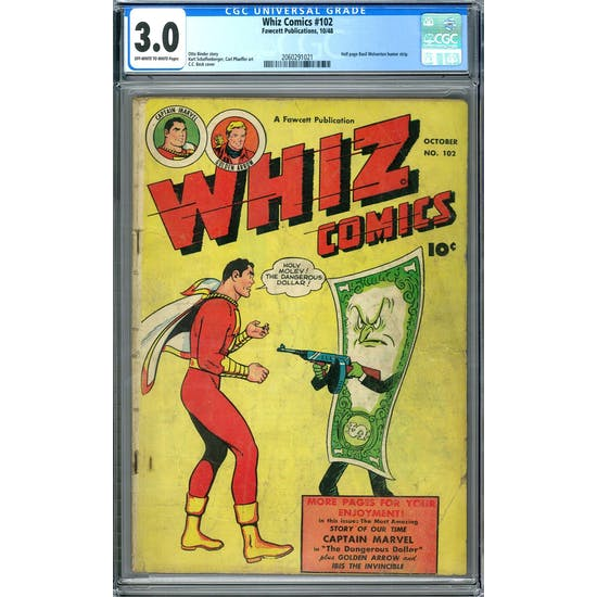 Whiz Comics #102 CGC 3.0 (OW-W) *2060291021*