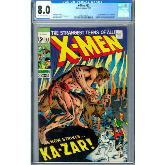 X-Men #62 CGC 8.0 (OW-W) *2062339021*
