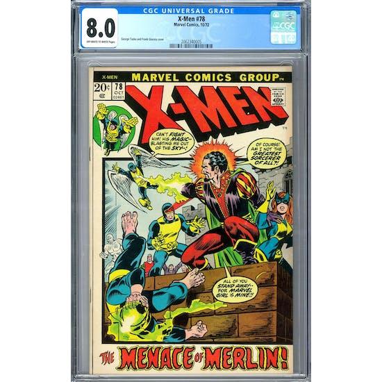 X-Men #78 CGC 8.0 (OW-W) *2062340005*