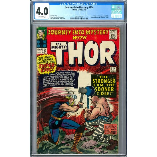 Journey Into Mystery #114 CGC 4.0 (OW) *2062341003*