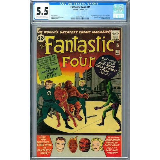 Fantastic Four #11 CGC 5.5 (OW-W) *2062341011*