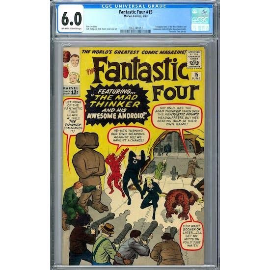 Fantastic Four #15 CGC 6.0 (OW-W) *2062341012*