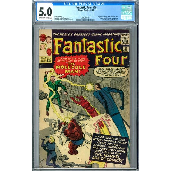 Fantastic Four #20 CGC 5.0 (OW-W) *2062341017*