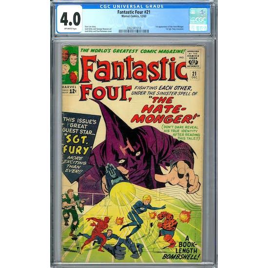 Fantastic Four #21 CGC 4.0 (OW) *2062341018*