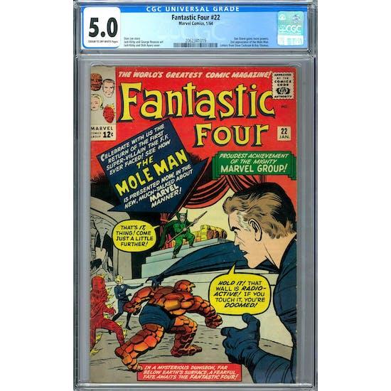 Fantastic Four #22 CGC 5.0 (C-OW) *2062341019*