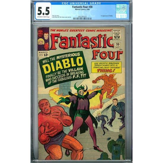 Fantastic Four #30 CGC 5.5 (OW-W) *2062341025*