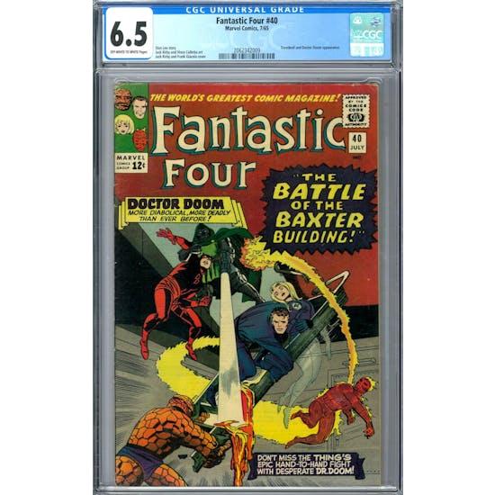 Fantastic Four #40 CGC 6.5 (OW-W) *2062342009*