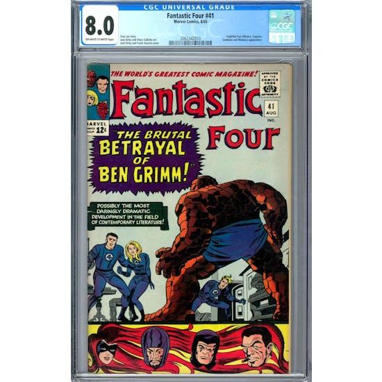 Fantastic Four #41 CGC 8.0 (OW-W) *2062342010*