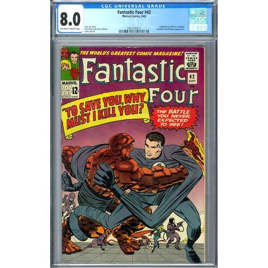 Fantastic Four #42 CGC 8.0 (OW-W) *2062342011*