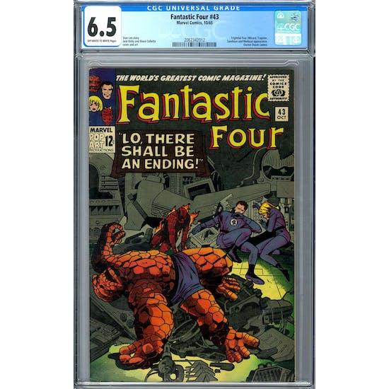Fantastic Four #43 CGC 6.5 (OW-W) *2062342012*