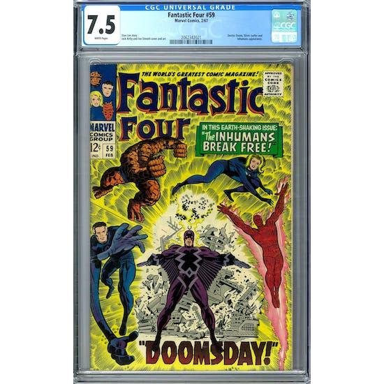 Fantastic Four #59 CGC 7.5 (W) *2062342021*