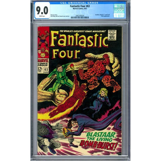 Fantastic Four #63 CGC 9.0 (W) *2062342024*
