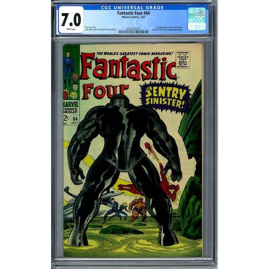 Fantastic Four #64 CGC 7.0 (W) *2062342025*