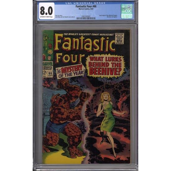 Fantastic Four #66 CGC 8.0 (OW-W) *2062343002*
