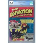 True Aviation Picture Stories #9 CGC 6.5 (C-OW) *2062590016*