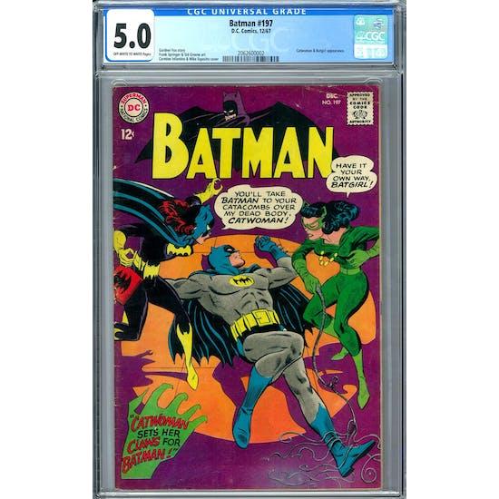 Batman #197 CGC 5.0 (OW-W) *2062600002*