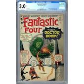 Fantastic Four #5 CGC 3.0 (OW) *2063658002*