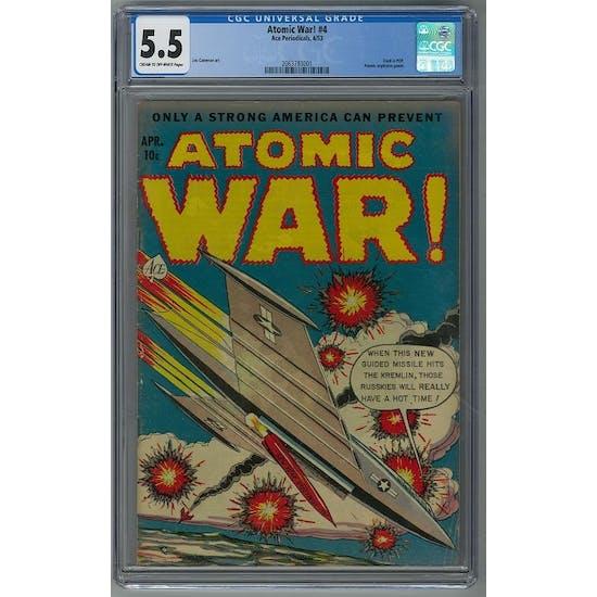 Atomic War! #4 CGC 5.5 (C-OW) *2063783001*