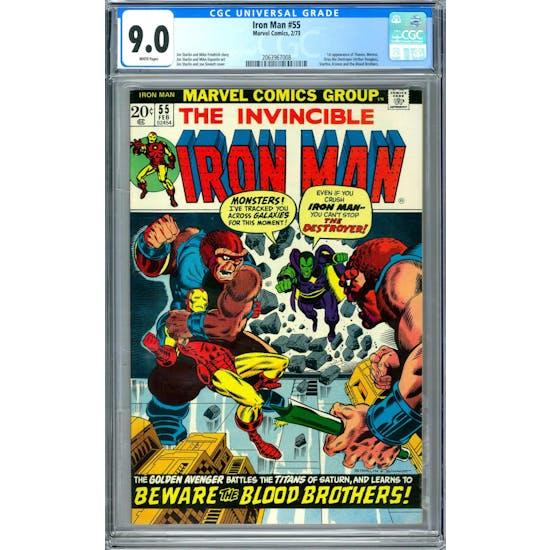 Iron Man #55 CGC 9.0 (W) *2063967008*