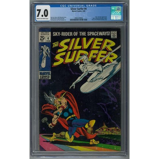 Silver Surfer #4 CGC 7.0 (C-OW) *2065234004*