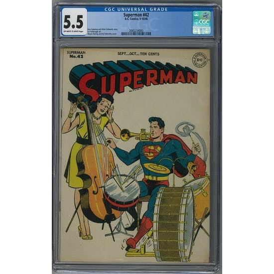 Superman #42 CGC 5.5 (OW-W) *2065234005*