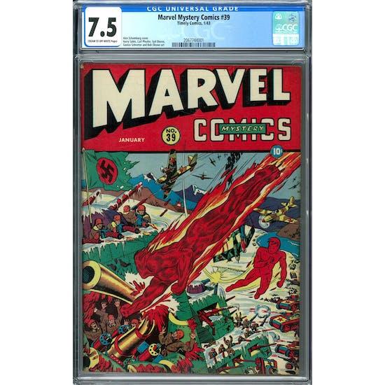 Marvel Mystery Comics #39 CGC 7.5 (C-OW) *2067744001*