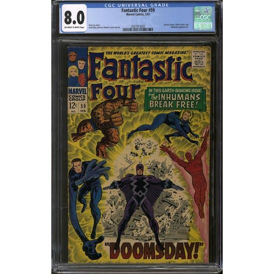 Fantastic Four #59 CGC 8.0 (OW-W) *2067913002*
